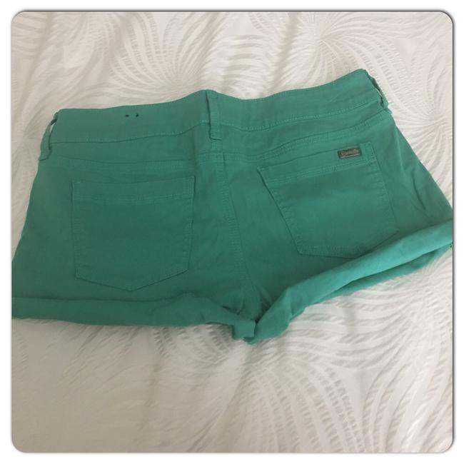 Guess Cuffed Shorts Green Image 3