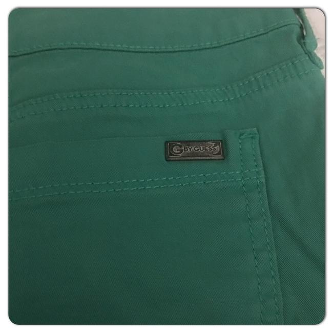 Guess Cuffed Shorts Green Image 4