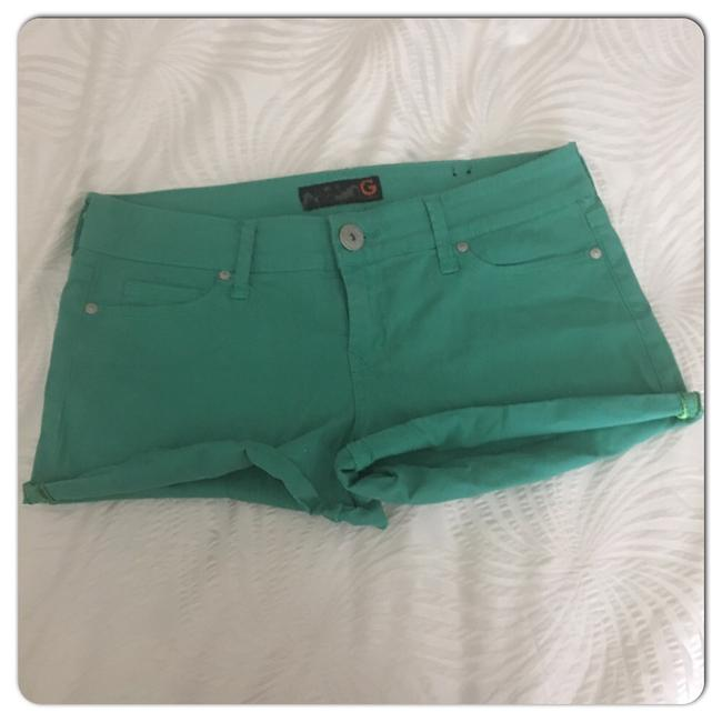 Guess Cuffed Shorts Green Image 6