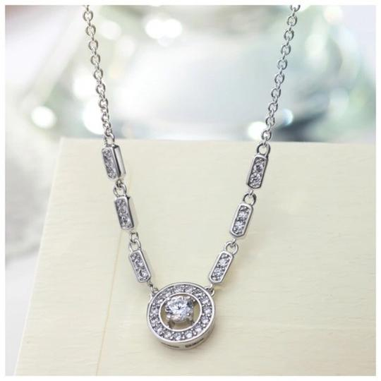 Other Swarovski Crystal Circle Silver Necklace S8 Image 1