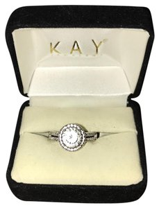Kay Jewelers Halo White Sapphire Ring