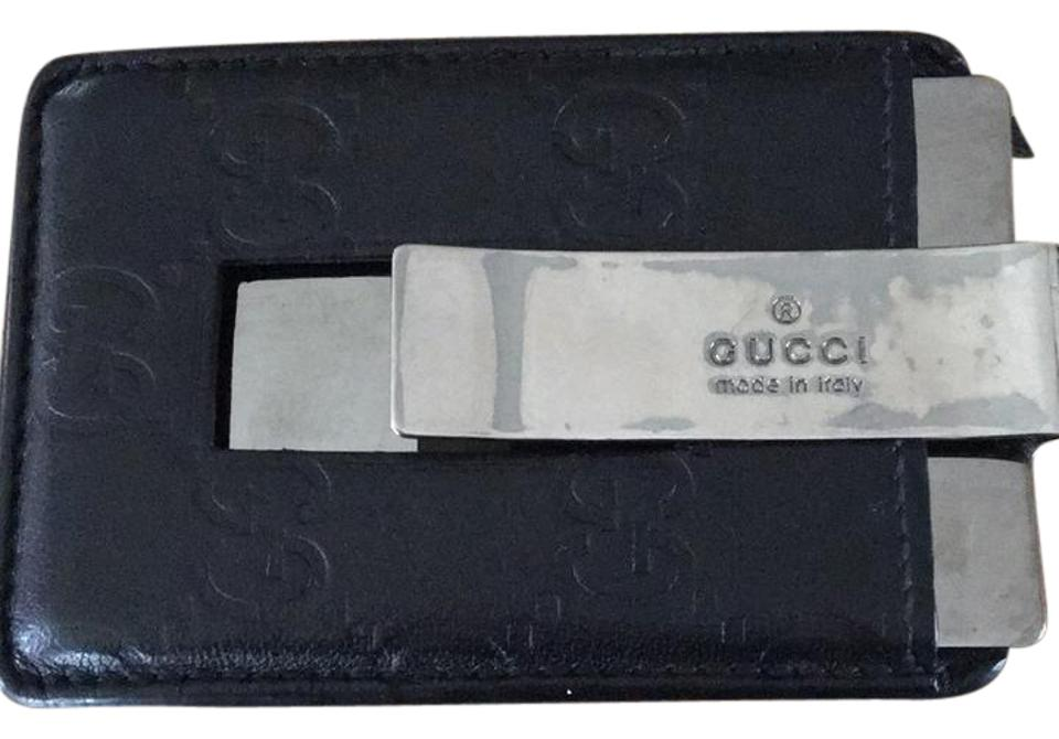 81e169b39fd Gucci Black Signature Money Clip Wallet - Tradesy