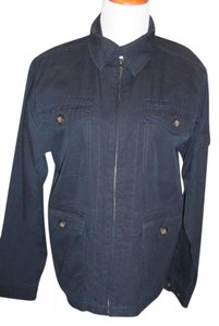 Saks Fifth Avenue NAVY BLUE Womens Jean Jacket