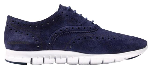Item - Blue Zerogrand Wing Suede Oxford Sneakers Size US 10 Wide (C, D)