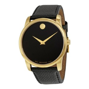Movado Movado Museum Yellow Gold PVD Stainless Steel Mens Watch 0607014