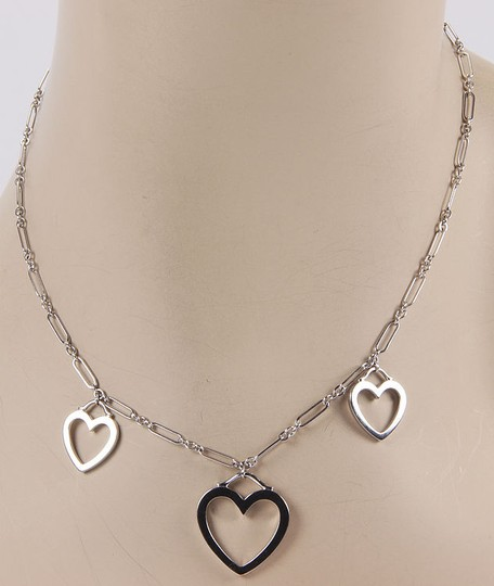 Tiffany & Co. 18K White Gold Triple Heart Pendant Necklace with Pouch Image 1