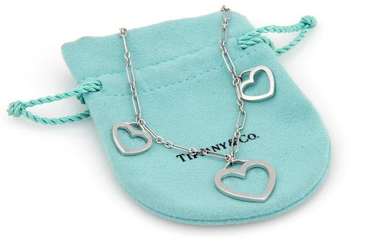 Tiffany & Co. 18K White Gold Triple Heart Pendant Necklace with Pouch Image 3