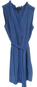 BCBGMAXAZRIA Bcbg Cocktail Blue Silk Dress