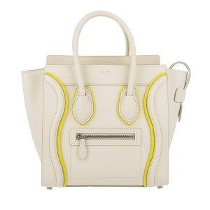 Céline Micro Micro Luggage Luggage Luggage Tote in Chalk White NWT Celine