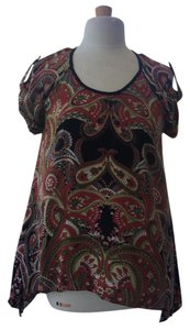 Charming Charlie Top Black/Red/Green