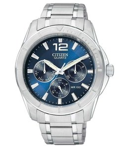Citizen Men's Chronograph Stainless Steel Bracelet Watch AG8300-52L