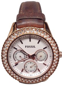Fossil S tella GMT Rose Gold tone Stainless Steel Ladies Watch ES3104