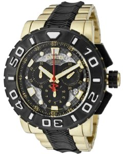 Invicta 6314 Chronograph Gold Plated Polyurethane