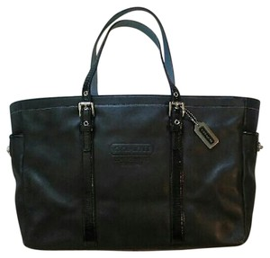 Coach Turnlock Legacy Tote in Black