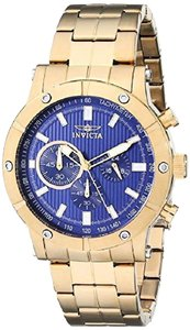 Invicta 18162 Mens Specialty Analog Display Japanese Quartz Gold Watch
