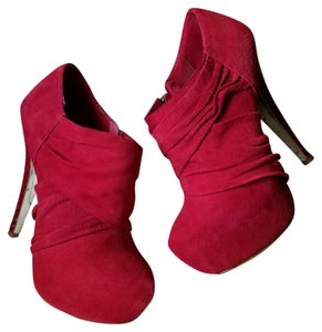 Halston Ruby Red Boots