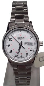 Citizen EQ0580-95A Womens Easy Reader White Dial Expansion Steel