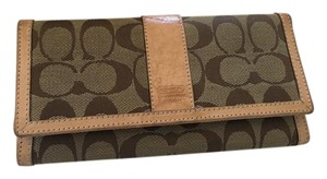 Coach Coach Signature Canvas Wallett