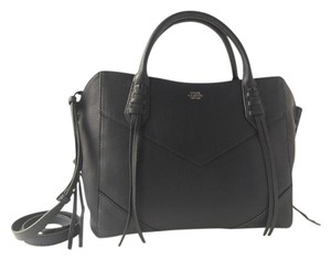 Vince Camuto Leather Business Strap Satchel in Deep Blue