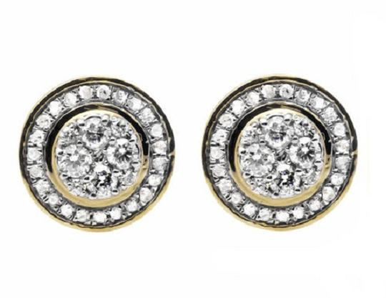Preload https://img-static.tradesy.com/item/21285140/10k-yellow-gold-round-10mm-halo-flower-genuine-diamond-stud-075ct-earrings-0-0-540-540.jpg