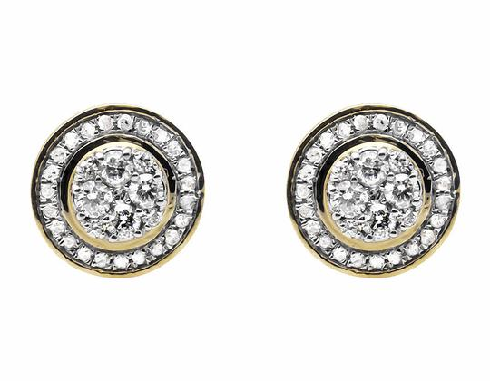 Jewelry Unlimited Round 10MM Halo Flower Genuine Diamond Stud Earrings 0.75ct. Image 1