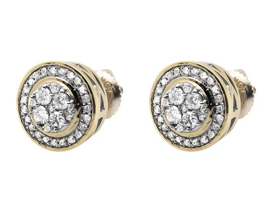 Jewelry Unlimited Round 10MM Halo Flower Genuine Diamond Stud Earrings 0.75ct. Image 4