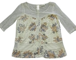 Anthropologie Meadow Rue Floral Lace Top
