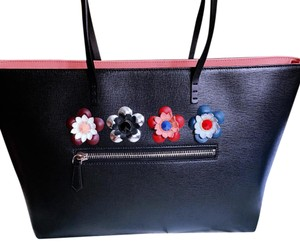 Fendi Tote in Black with pink top