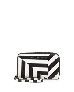 Marc by Marc Jacobs New! Turn Around Striped Wingman Zip Wallet