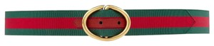 Gucci Green and Red Webbing Belt