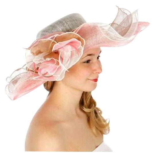 Preload https://img-static.tradesy.com/item/21285375/white-pink-new-sinamay-dress-features-a-wide-wavy-brim-and-a-large-flower-hat-0-1-540-540.jpg