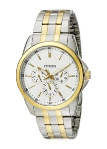 Citizen Men's 2-Tone Stainless Steel Bracelet Multifunction Watch AG8344-57A