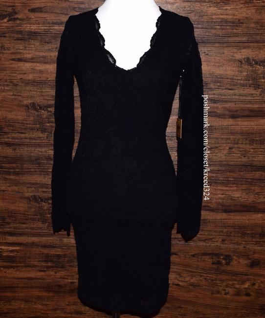 Free People short dress Black Bodycon Party Cocktail Formal Wedding Guest Long Sleeve Mini Holiday Nye on Tradesy Image 3