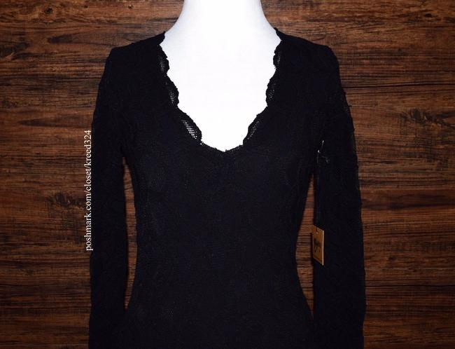 Free People short dress Black Bodycon Party Cocktail Formal Wedding Guest Long Sleeve Mini Holiday Nye on Tradesy Image 5