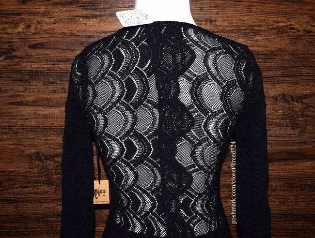 Free People short dress Black Bodycon Party Cocktail Formal Wedding Guest Long Sleeve Mini Holiday Nye on Tradesy Image 6
