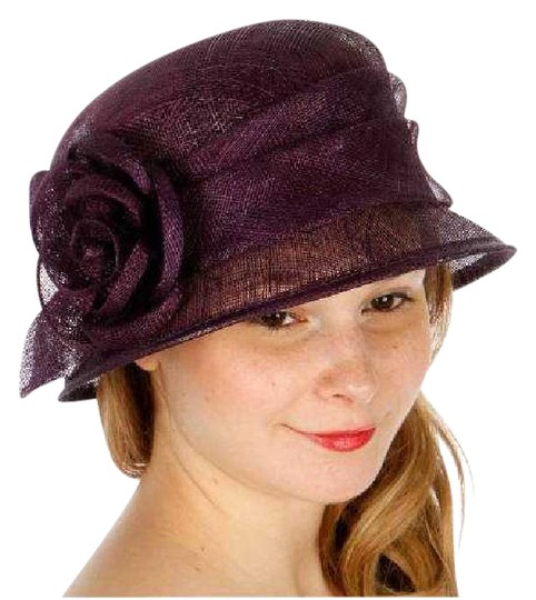 Preload https://img-static.tradesy.com/item/21285473/purple-new-cloche-bucket-sinamay-rose-dress-hat-0-1-540-540.jpg