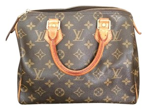 Louis Vuitton Canvas Monogram Leather Satchel in Brown
