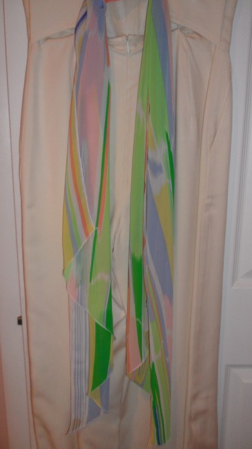 Louis Feraud LOUIS FERAUD FAB OFF WHITE JUMPSUITS, WITH BEAUTIFUL SCARF IN A BACK Image 3