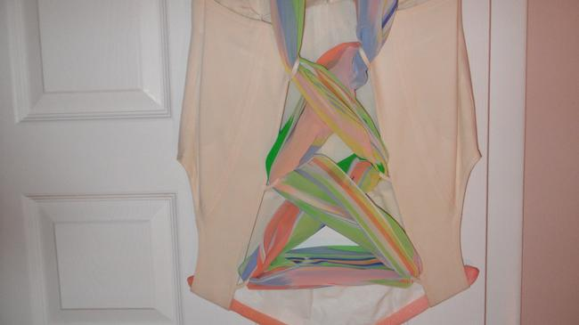 Louis Feraud LOUIS FERAUD FAB OFF WHITE JUMPSUITS, WITH BEAUTIFUL SCARF IN A BACK Image 4