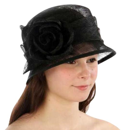 Preload https://img-static.tradesy.com/item/21285550/black-new-cloche-bucket-sinamay-rose-dress-hat-0-1-540-540.jpg