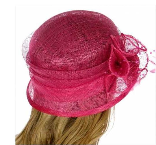 kentucky derby hat New Cloche Bucket Sinamay Dress Dressy Hat Image 2