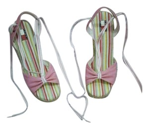 Tommy Hilfiger Pink and natural hemp Wedges