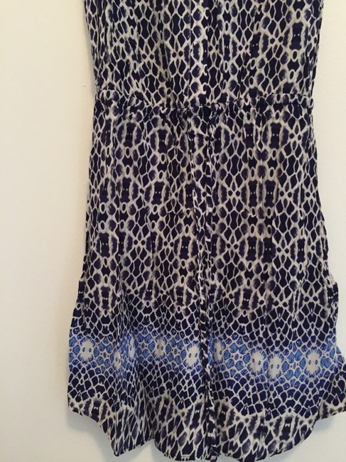 Aqua short dress Blue / White on Tradesy