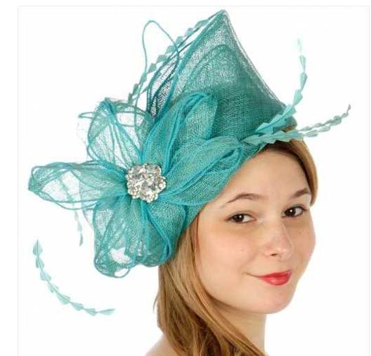 kentucky derby hat New Decorated sinamay fascinator Dress Dressy Hat Image 1