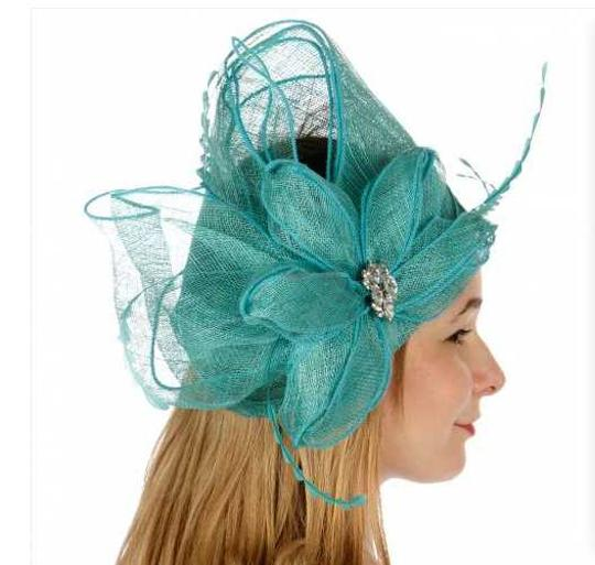 kentucky derby hat New Decorated sinamay fascinator Dress Dressy Hat Image 2