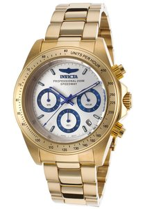 Invicta 17312 Men's Speedway Chronograph 18K Gold Plated Steel Silver-Tone