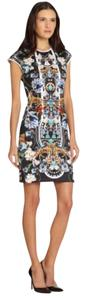 Clover Canyon Panther Print Neoprene Wetsuit Bodycon Dress