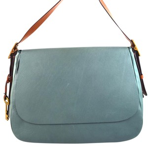 Fossil Arctic Mist Blue Messenger Bag