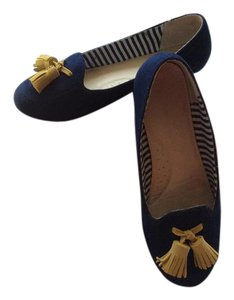 Charles Philip Shanghai Loafer Slipper Suede Tassels Comfortable Blue Flats