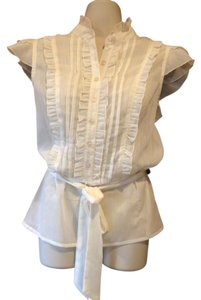 AB Studio Sheer Camisole Date Night Summer Top ivory